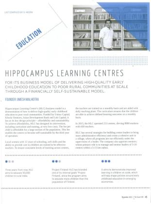 Education - Hippocampus Learning Centres_The Smart CEO_Page 45_November 2015