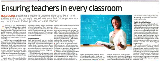 Ensuring teachers in every classroom_Deccan Herald_17 Dec 2015_Page 18.jpg