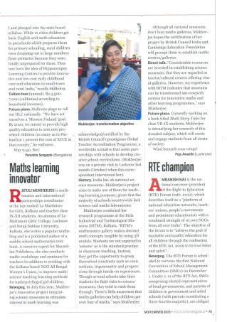 Malhotra's progress_Education World_November 2015_Page 75