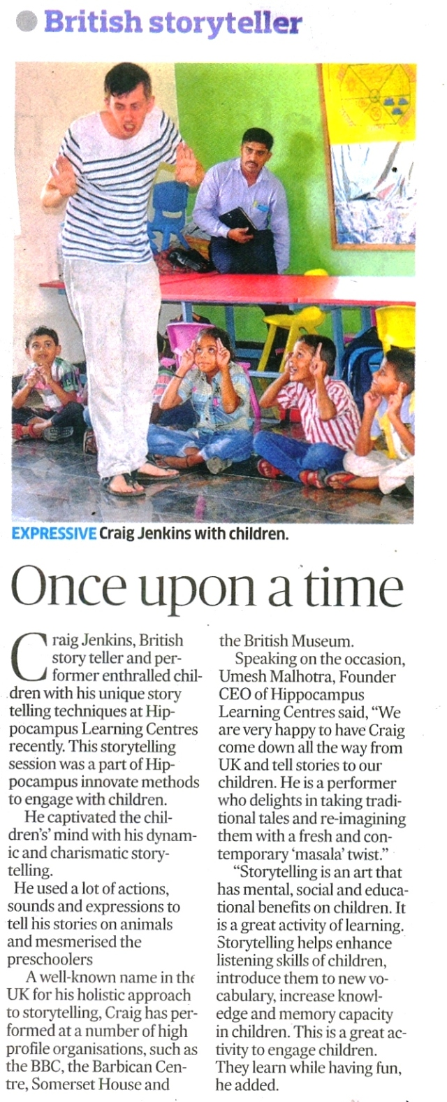 Once upon a time_Deccan Herald_14 July 2015_Page 2 ( Metro Life )