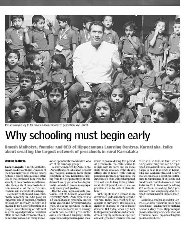 Why schooling must begin early_The New Indian Express (City Express)_19 August 2015_Page 5